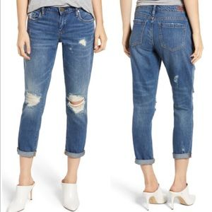 BlankNyc The Ludlow Hi Rise Crop Girlfriend Jeans
